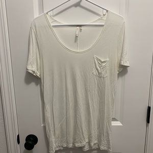White Banana Republic Pocket Tee